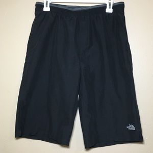 The Northface boys black  swim outdoor shorts